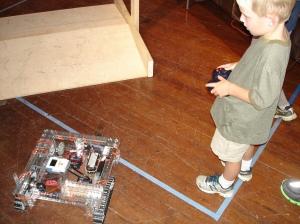 Roving robot.